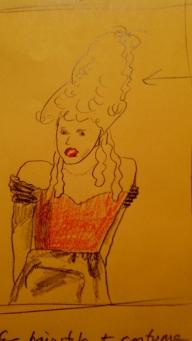 Marie Bonaparte - director's sketch
